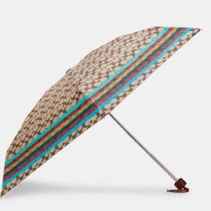 Coach UV Protection Signature Mini Umbrella Legacy